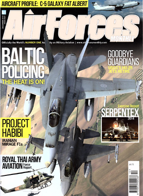 AIRFORCES MONTHLY Magazine. Dec 2014 - IRANIAN MIRAGE F1s,C-5 GALAXY