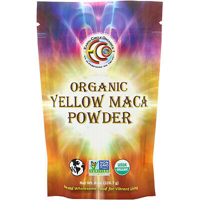 Organic Yellow Maca Powder, 8 oz (226.7 g) - Earth Circle Organics