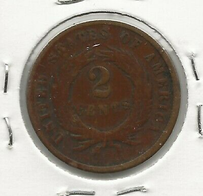 U.S.A. 1864 2 Cents.. Large Motto.. Scarce