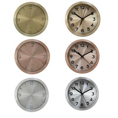 Elko Wall Quartz Clock | Round Gold, Copper & Silver and With Black Combination