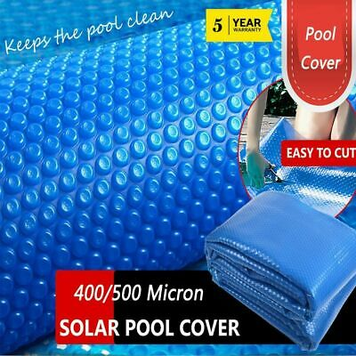Solar Swimming Pool Cover 9 Size 400/500 Micron Blanket Protector Heating Heated