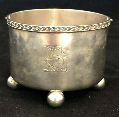 Hallmarked Dutch 1918 Sterling Silver pot with handle approx 121g $50 START
