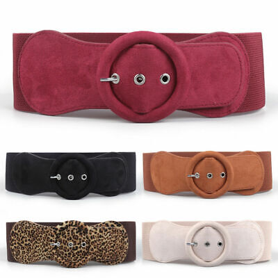 WideVelvet Dress Belt Elastic Waistband Stretch Circle Belt Women Girls