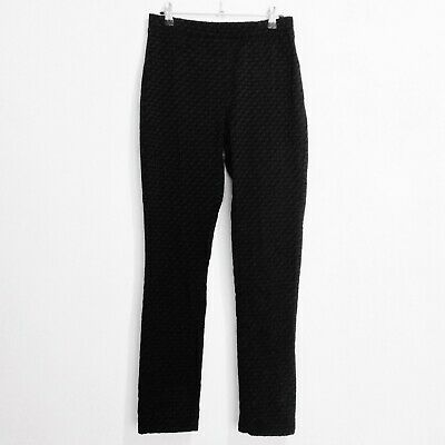 Blue Illusion Womens Black Stretch Cotton Blend Tapered Leg Pull-On Pants Size S