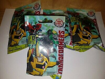 Transformers Tiny Titans Series 6 Lot Of 4 Blind Bags New Sealed Hasbro Packs