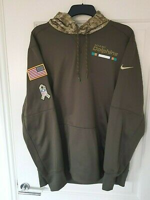 NFL Miami Dolphins Salute to Service USA Hoody Size Extra Large Mens (XL) SHIRT