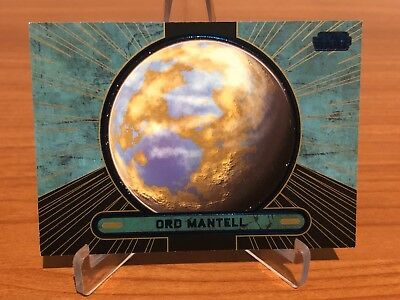 Star Wars Galactic Files Series 2 ORD MANTELL Blue # 019/350