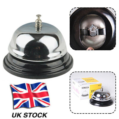 Restaurant Kitchen Service Steel Bell Ring Reception Desk Call Ringer Durable #g