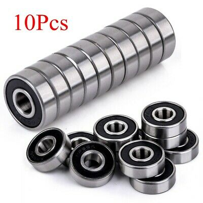 10pcs 8x22x7mm Rubber Sealed 608-2RS Miniature Ball Bearings Deep Groove Tool
