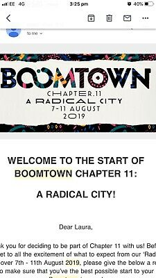 Boomtown 2019 Festival ticket NEED GONE ASAP
