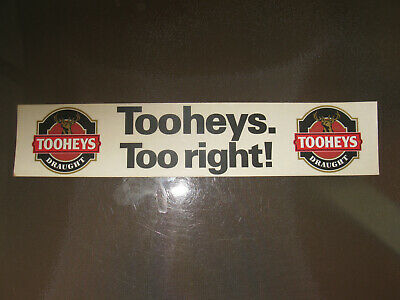 Vintage Tooheys Draught Tooheys Too Right Sticker