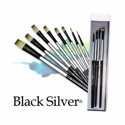Fm Brush Company 32822 Dynasty Black Silver Fm Blended Synthetic Watercolor B...