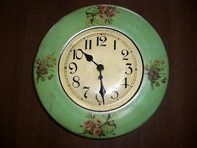Antique Japy French Kitchen Wall Clock, 8-Day, Time Only, Key-wind