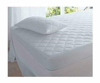 4FT Small Double Quilted Mattress Protector Extra Deep 30cm Topper Fitted Cover