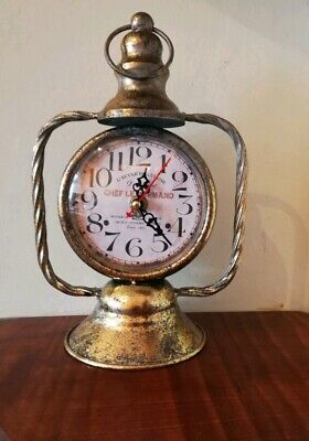 1900s vintage style Lantern standing Clock French Country mantel shelf table New
