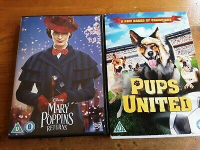 Mary Poppins Returns (DVD, 2019) and pups united