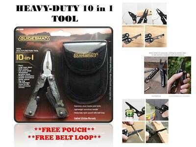 GUIDESMAN® 10-in-1 Mini Multi-Function Tool with Free Pouch and Belt Loop