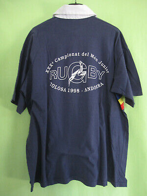 Polo Rugby Andorre 1998 Jersey Vintage Andorra Maillot Marine - XL