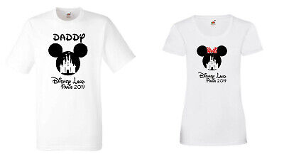 Personalised Disney Land Paris France T-shirts 2019 (or 2020) -Kids and Adults