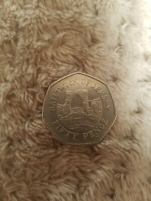 50p Coin 1997 Bailiwick Of Jersey Grosnez Castle FREEPOST