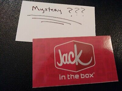 1 Jack-in-the-box Combo Meal Voucher+1 Mystery Combo Meal Voucher