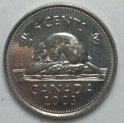 2003 P CANADA 5 Cent  Beaver Nickel Coin Old Effigy N#1007