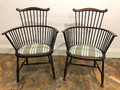 Pair of Spindle Back Windsor Armchairs- Delivery Available