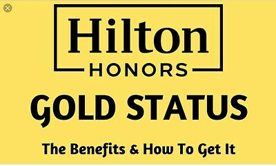 Hilton Honours Gold Status Upgrade Valid Till March 2021 Fast Reliable Best Deal