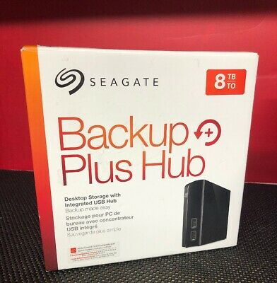 Seagate Backup Plus Hub 8TB External USB 3.0 Desktop Hard Drive STEL8000100