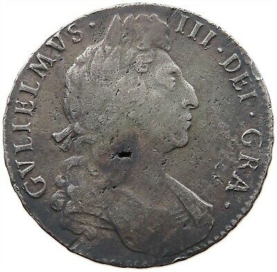 GREAT BRITAIN HALFCROWN 1697 WILLIAM III. #t82 019