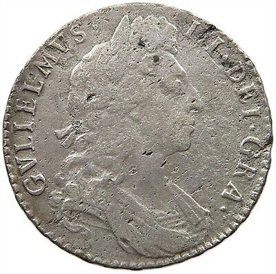 GREAT BRITAIN HALFCROWN 1697 WILLIAM III. #t82 031