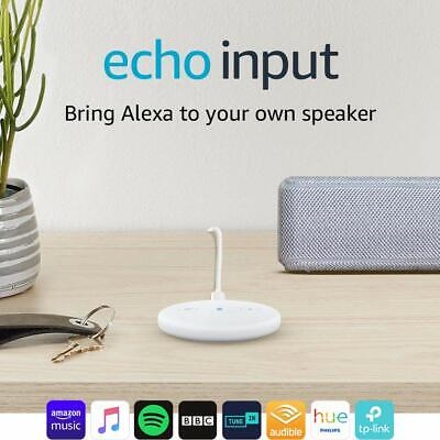 Echo Input (White) – Bring Alexa to your own speaker -BRAND NEW & SEALED