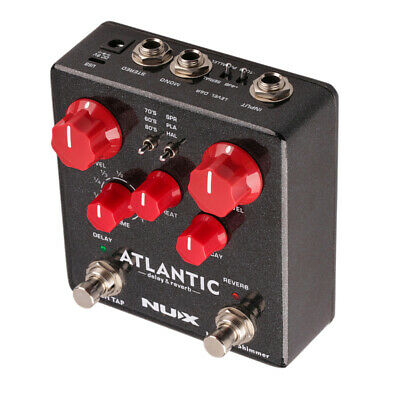 NUX ATLANTIC Delay & Reverb Guitar Effect Pedal Dual Footswitch