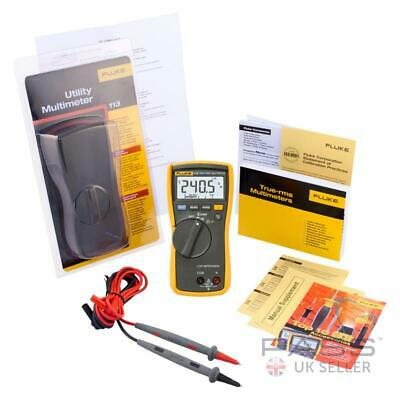 *NEW* Fluke 113 True RMS Utility HVAC Digital Multimeter + Test Leads - Genuine