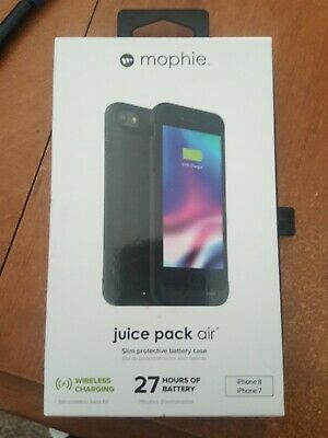 New! Mophie Juice Pack Air Protective Battery Case iPhone 7/8 - Black