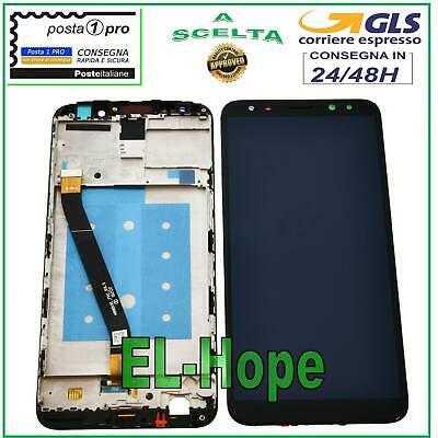 DISPLAY LCD FRAME HUAWEI MATE 10 LITE RNE-L01 RNE-L21 NOVA 2i TOUCH SCREEN NERO