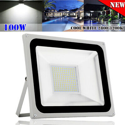 100W LED Floodlight SMD Flood Light Outdoor IP65 Cool White Spotlight Wall Lamps