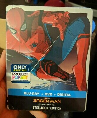 Spider-Man Homecoming - Best Buy Exclusive Steelbook (Blu-ray/DVD) BRAND NEW!!