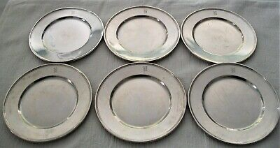 Set of 6 Sterling Silver Bread Plates 6 and 3/8 Inches / 15.8 Oz