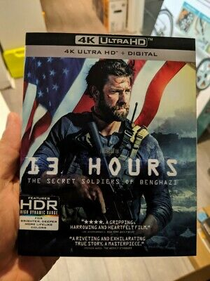 13 Hours the Secret Soldiers of Benghazi (Blu-ray + 4K UHD) NEW!! w/ Slipcover!!