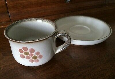 Denby England ~ Pink 'Gypsy' ~ Coffee or Teacup & Saucer Set