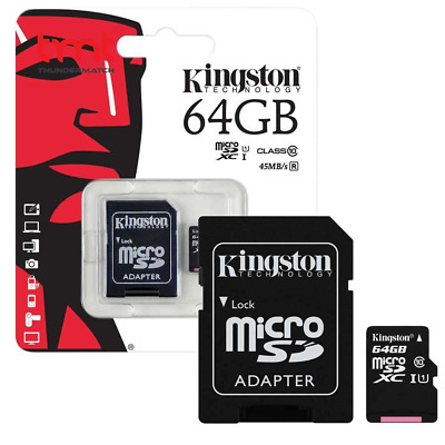 64 GB  Micro SD Card TF Flash Memory Card With Free Adapter- NEW -UK✅