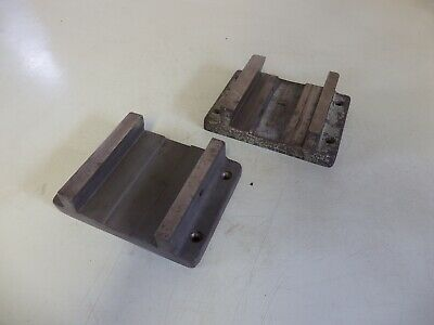 "2x castings machined  taper bases bed jib slide 7.25"" 5.5"" 2"" lathe mill drill"