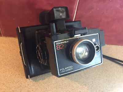 Polaroid Land Camera Colorpack 82 With Flash Light Vintage