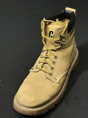 Caterpillar Men's Second Shift Soft Toe Work Wheat Boots P70042 Size US 10.5 W