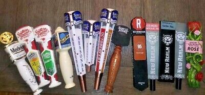 Lot of 13 Beer Tap Handles Modelo, Blue Moon, Angry Orchard, Sam Adams & more