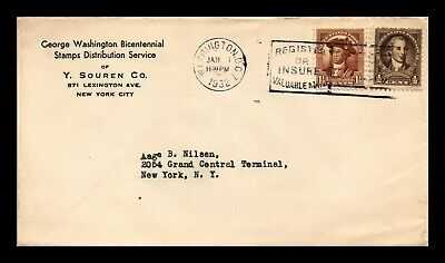 Dr Jim Stamps Us George Washington Bicentennial Fdc Cover Combo Scott 704 706