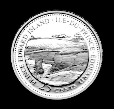 1867-1992 Prince Edward Island Canada Silver Proof 125th Anniversary 25 Cents