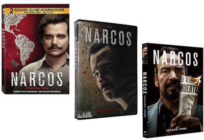 Narcos: The Complete Seasons 1-3 (DVD, 2018, 10-Disc Set) 1 2 3