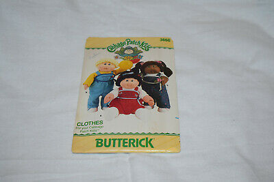 Vintage Cabbage patch kids butterick sewing pattern 1986 unopened